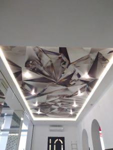 sufit napinany w sali bankietowej Warszawa